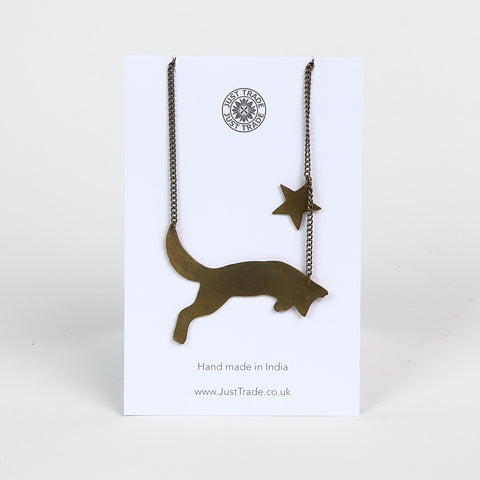 Just Trade Brass 'Fox' Necklace
