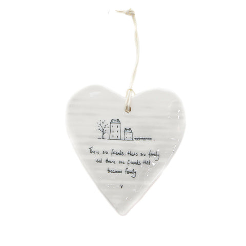 East of India Round Ceramic Heart - There are friends