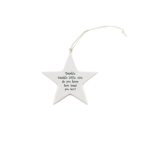 East of India Twinkle Twinkle Ceramic Star