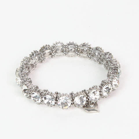 Lovett Clear Crystal Stone Stretch Bracelet