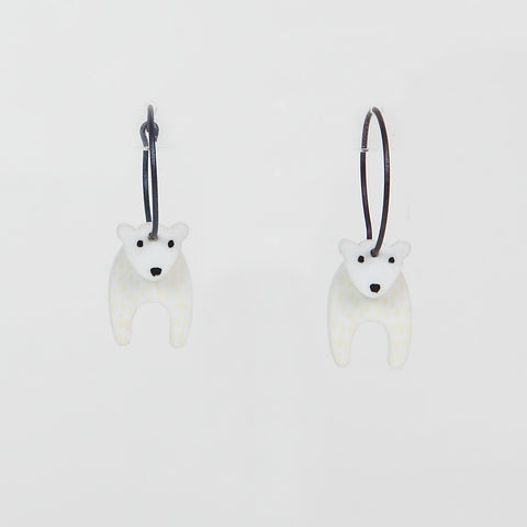 Lene Lundberg K-Form Polar Bear Earrings