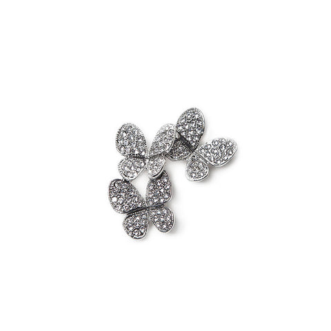 Sparkly Diamante Butterflies Brooch