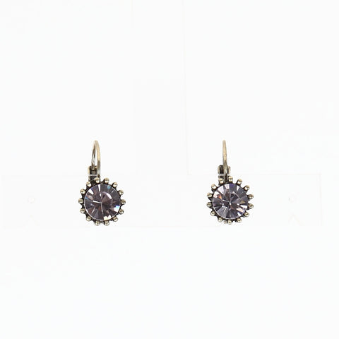 Lovett Light Amethyst Crystal on French Wire Earrrings