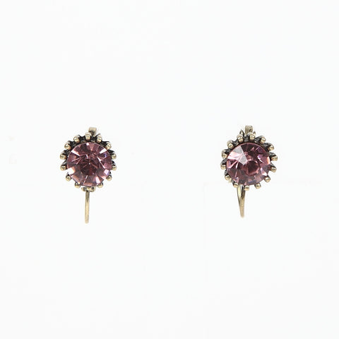 Lovett Vintage Rose Crystal on French Wire Earrrings