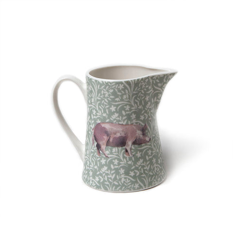 Gisela Graham Bone China Jug with Pig