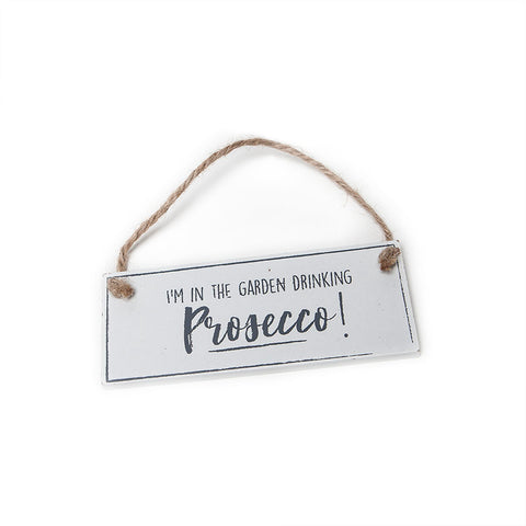 Gisela Graham Mini Wooden Prosecco Sign