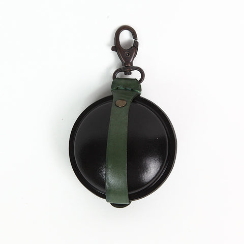 Paulette Rollo Green and Black Leather Purse reverse