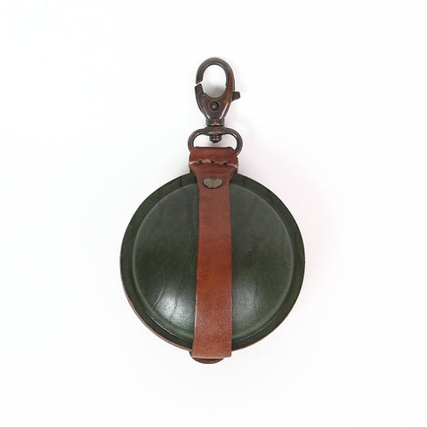 Paulette Rollo Cognac/Green Leather Purse