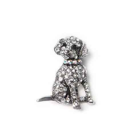 Sparkling Diamante Dog Brooch
