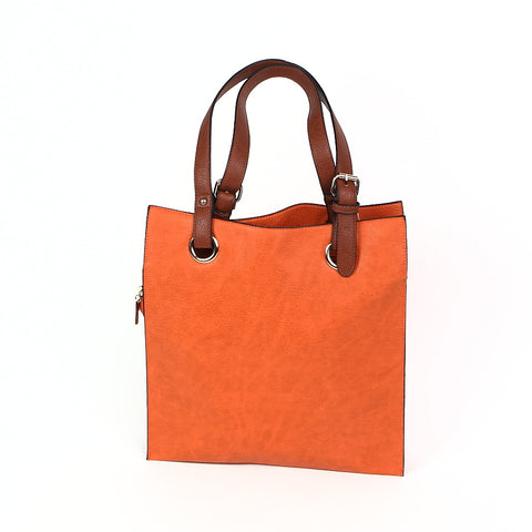 Orange Shopper Style Bag