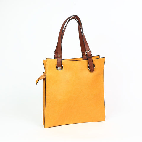 Yellow Shopper Style Bag