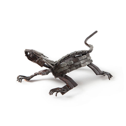 Small Silver Metal Lizard