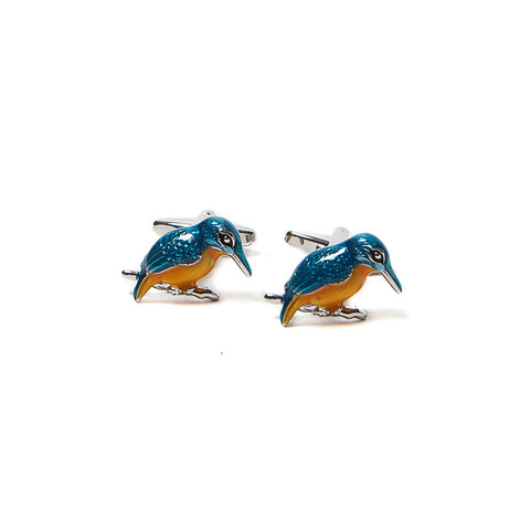 Enamelled Kingfisher Cufflinks