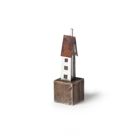 Mini Tall House Metal Sculpture by Sarah Jane Brown