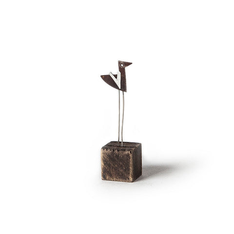 Mini 'Short' Bird Metal Sculpture by Sarah Jane Brown