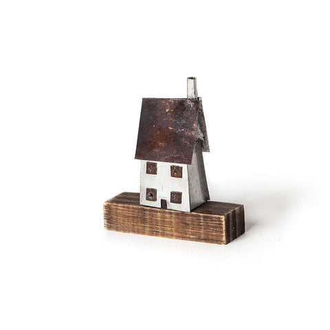 Mini House Metal Sculpture by Sarah Jane Brown