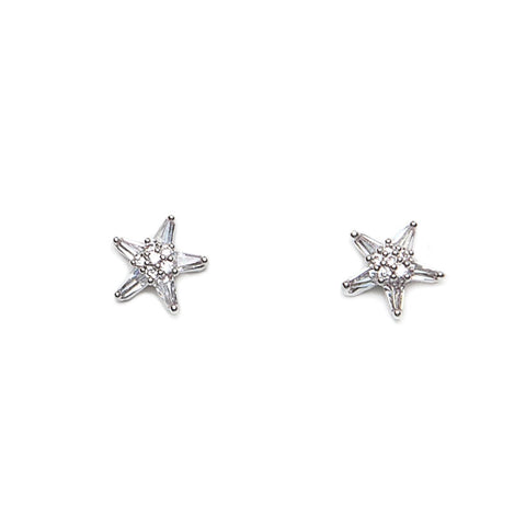 Eastar Tiny Crystal Star Earrings
