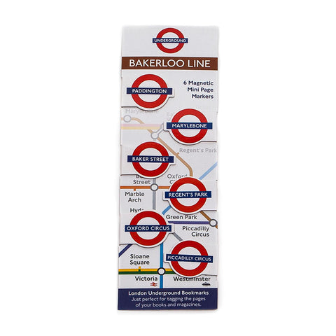 London Underground Bakerloo Line Book Markers by If