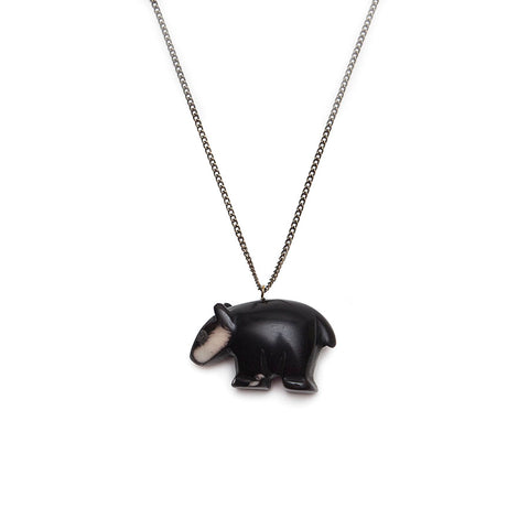 Just Trade Tagua Nut Badger Necklace