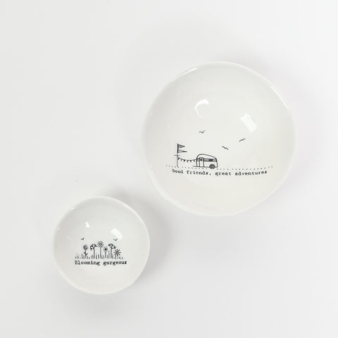 East of India Glazed Wobbly Ceramic Dishes