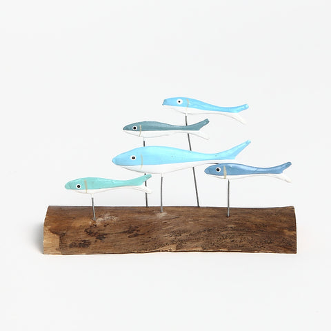 Shoeless Joe Shoal of Fish on Driftwood