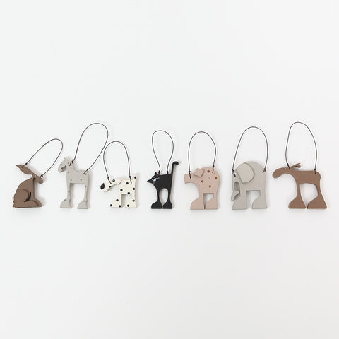 East of India Quirky Little Wooden Animal Hangers by Kate Toms