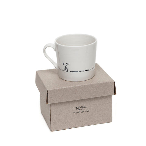 East of India Wobbly Mug - Prosecco Served Daily on presentation box