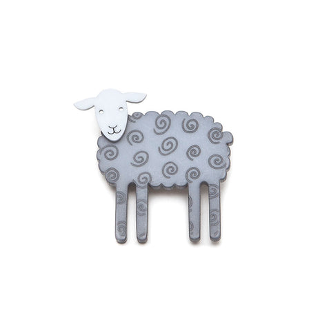 Lene Lundberg K-Form Grey Sheep Brooch