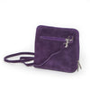 Genuine Leather Small Shoulder Bag in Violet