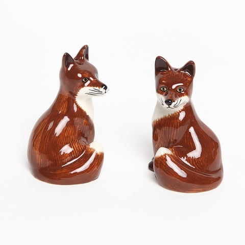 Quail Ceramic Fox Salt and Pepper