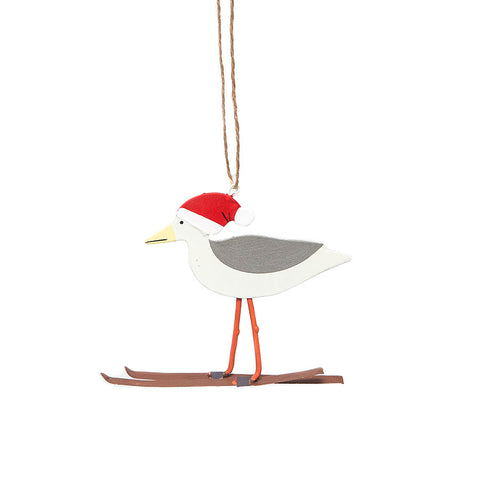 Shoeless Joe Skiing Seagull Hanging Decoration