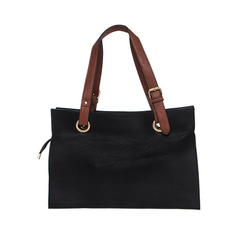 Black Wide Shopper Style Bag