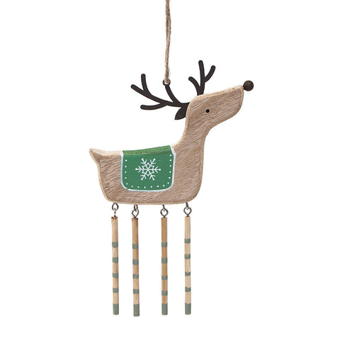 Heaven Sends Natural Wooden Deer Decoration with Dangly Legs