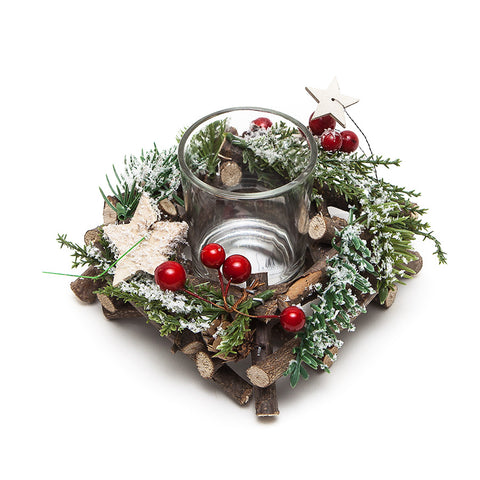 Heaven Sends Christmas Twig Candle Holder