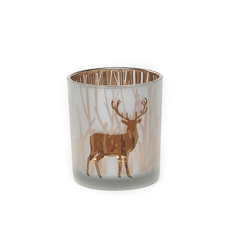 Heaven Sends Silver/Gold Stag T-Light Holder