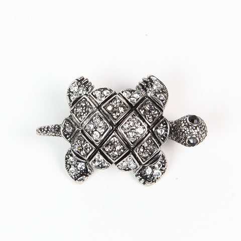 Large Sparkly Diamante Tortoise Brooch