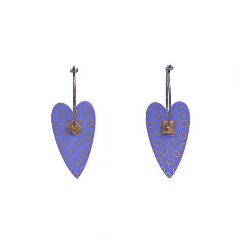 Lene Lundberg K-Form Purple Heart Earrings