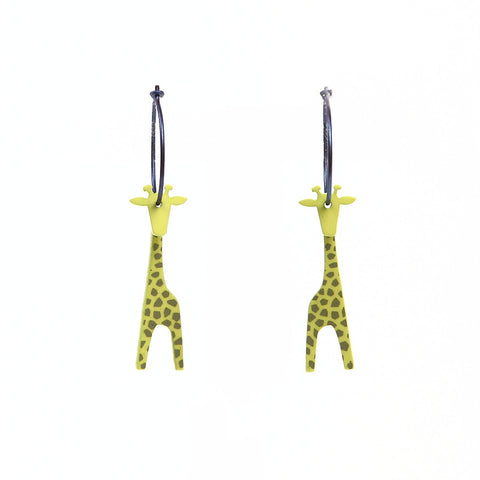 Lene Lundberg K-Form Lime Giraffe Earrings