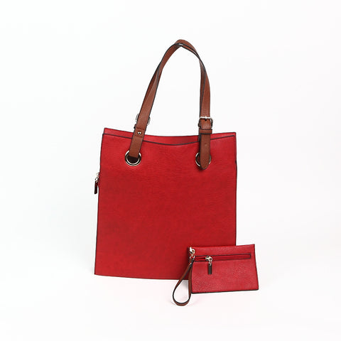 Bright Red Shopper Style Bag
