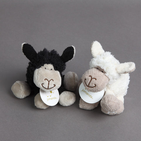 Baby Cuddly Sitting Sheepey in black or cream