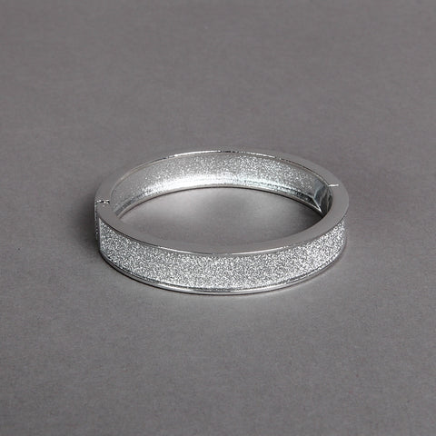 Sparkly Silver-Finish Bangle