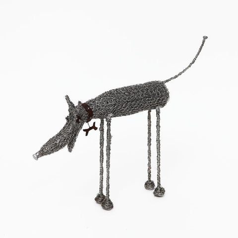 Sarah Jane Brown Knitted Wire Standing Dog (Large)