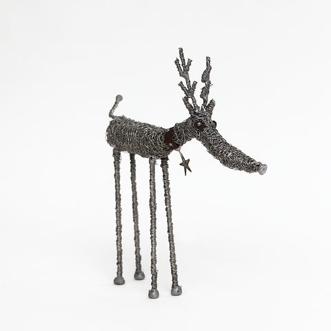 Sarah Jane Brown Knitted Wire Reindeer with Star