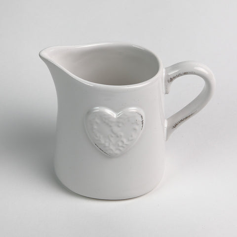 Gisela Graham Cream Heart Jug