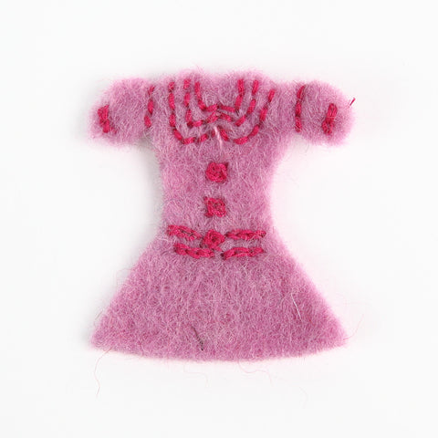 Amica Little Pink Felt Dress Brooch