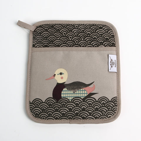 Magpie 'Pondlife' Mallard Pot Holder