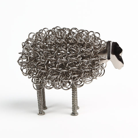 Wiggle Sheep in Nickel Silver Wire