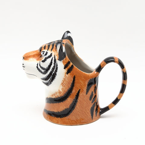 Quail Designs Small Ceramic Tiger Jug