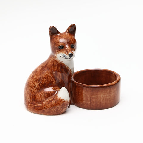 Quail Designs Ceramic Fox T Light Holder