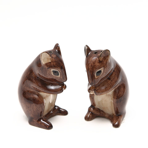 Quail Designs Ceramic Mice Salt and Pepper Set
